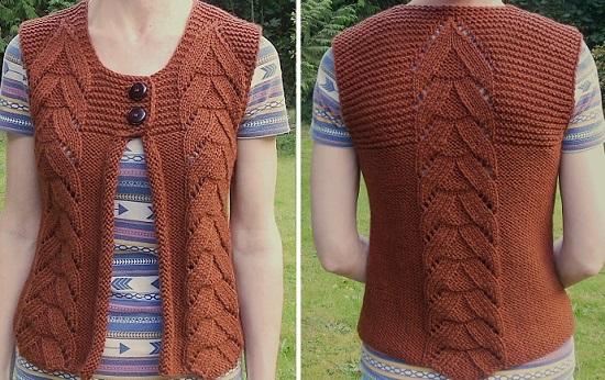 Knit Vest Knitting Patern