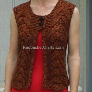 Red Basket Crafts - Knitted Vest Pattern