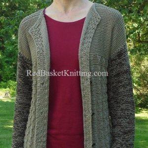 Knitted Long Cardigan Free Pattern