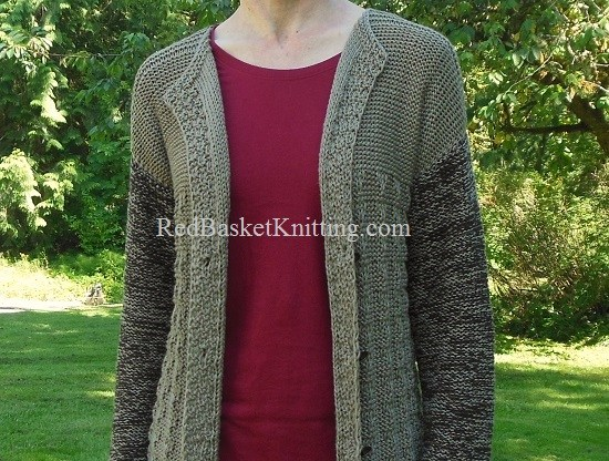 Knitted Long Cardigan Free Pattern