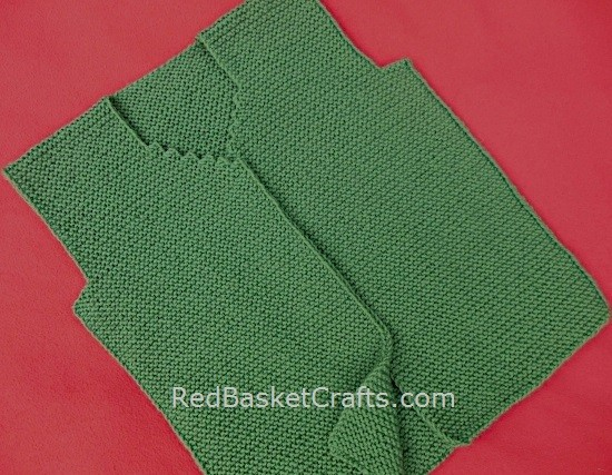 NOVICE Garter Vest Knitting Pattern by Red Basket Crafts