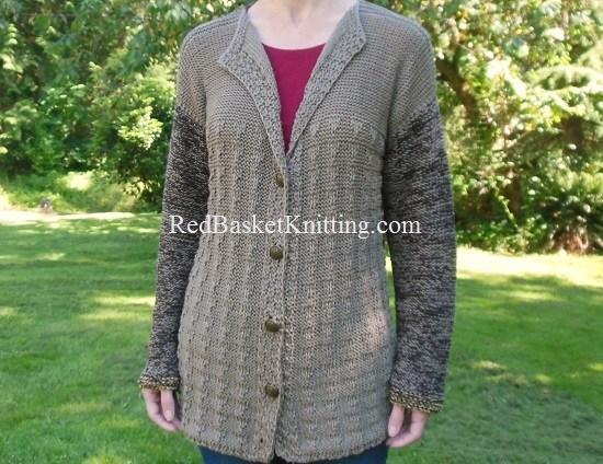 Textured Cardigan Free Knitting Pattern