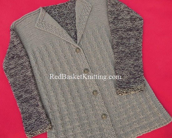 Womens Cardigan Textured Stitch Knitting
