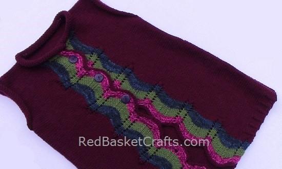 Noel Vest Knitting Pattern Free