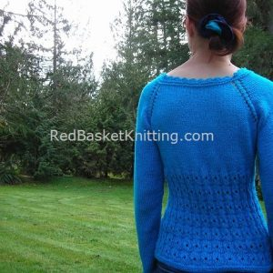 Blue Lace Summer Sweater Knitting Pattern