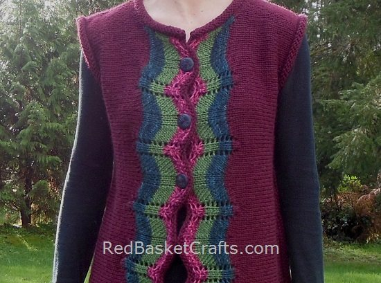 Long Striped Vest Knitting Pattern Free