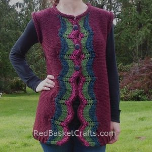 Striped Vest Free Knitting Pattern