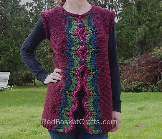 Striped Vest Free Knitting Pattern