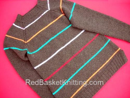 Raglan Sweater with Yoke