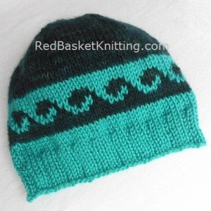 Ripple Stitch Hat - Knitting Pattern. Worsted yarn. Intermediate level. Size M to fit most adults.