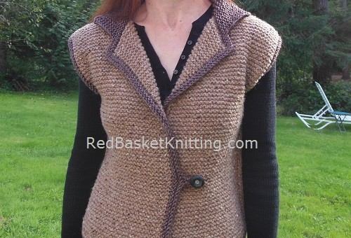Womens Knitted Vest Worsted Yarn Pattern