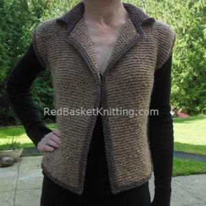 Womens Knitted Vest Worsted 4 Ply Yarn