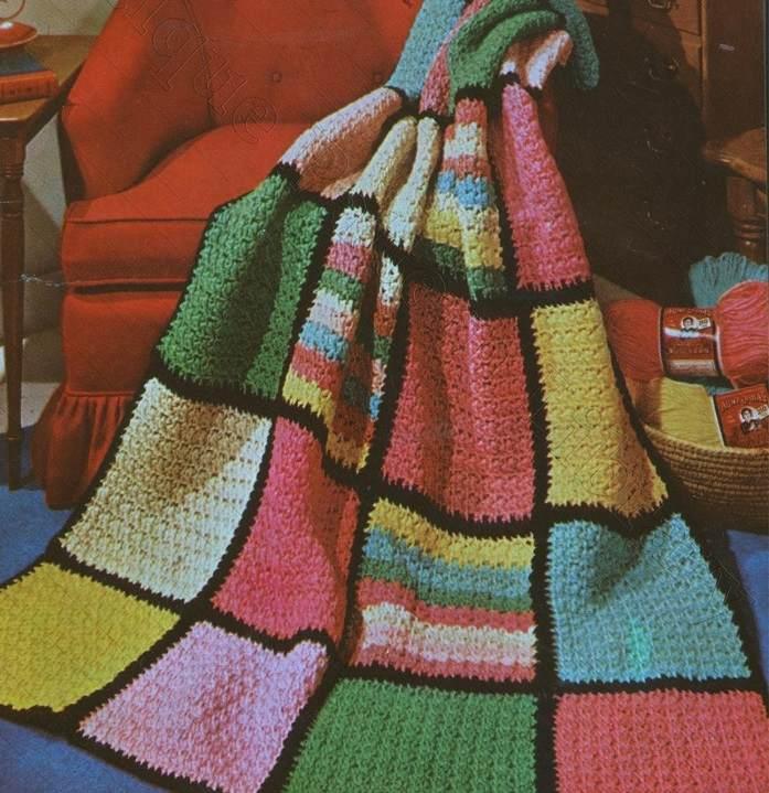Afghan Blanket Crochet Pattern Vintage Free