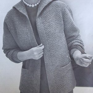 Buttonless Vintage Cardi Knitted