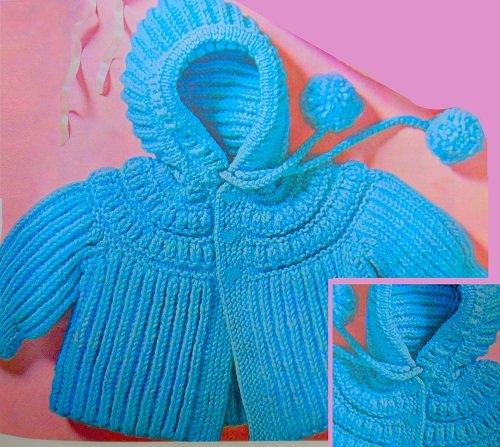 Hooded Cardi Baby Cardigan Kniting Paterns