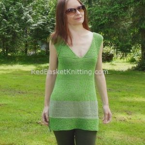 Knit Tunic Green Handmade