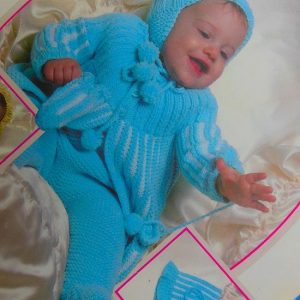 Knitted Baby Set Vintage Pattern