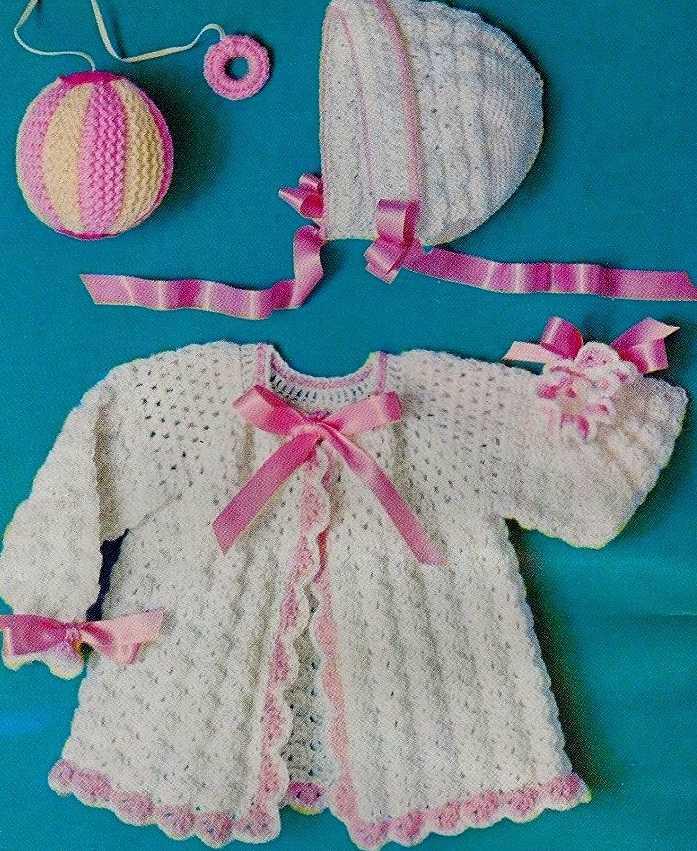 ~Shell Stitch Baby Set Crochet Instructions~