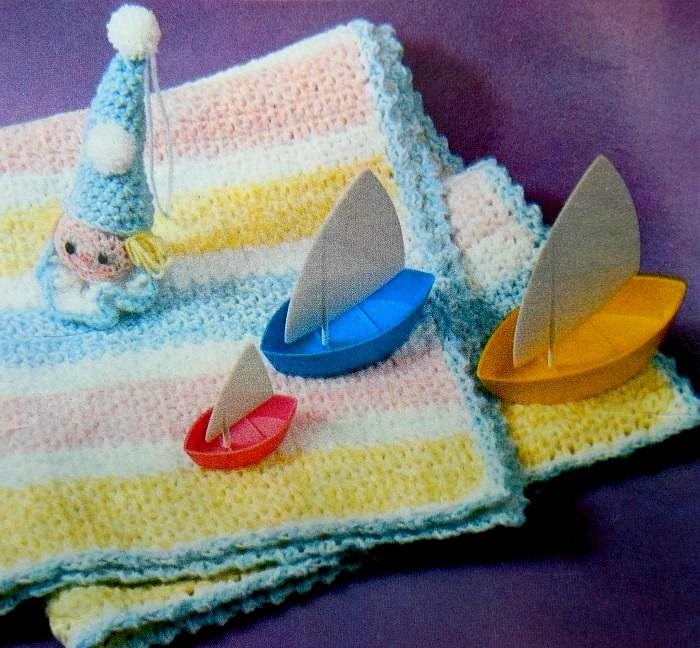 Baby Blanket Pattern Carriage Cover 1960s Crochet Vintage