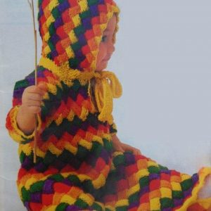 Basket-Weave Hooded Bunting Knitting Pattern