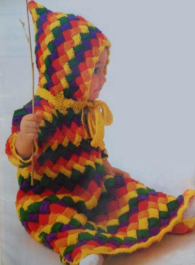 Basket-Weave Hooded Bunting Knitting Pattern