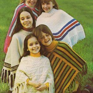 Girls Poncho Knitting Pattern