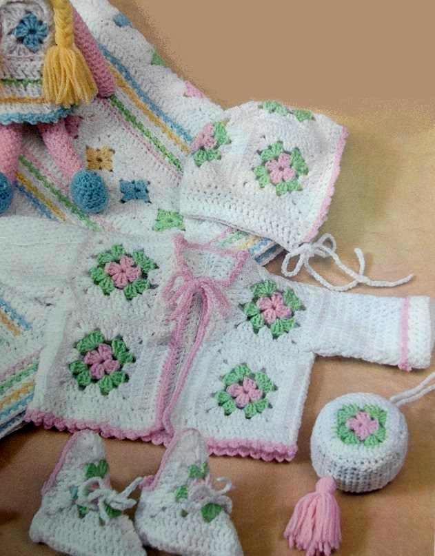 Motif Baby Set Crochet Pattern Vintage