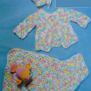 Multicilored Baby Blanket Crochet Pattern