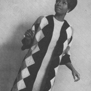 Harlequin Coat - Vintage Crochet Pattern Free