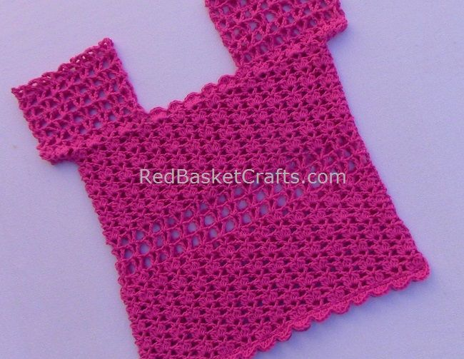 Camellia Summer Top Knitting Tutorial - Red Basket Crafts