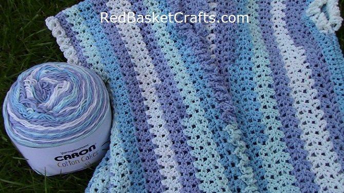 Caron Cotton Cakes Pattern Crochet Sizes XS, S, M, L, 2X, 3X, 4X