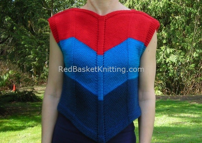 Chevron Vest Summer Knitting Pattern