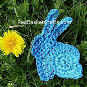 Crochet Bunny Applique Pattern