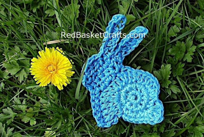 Crochet Bunny Applique Pattern