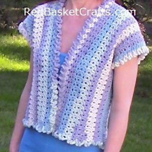 Crochet Lavender Top V Stitch Easy Pattern Cotton Worsted Medium Weight 4 Ply Yarn