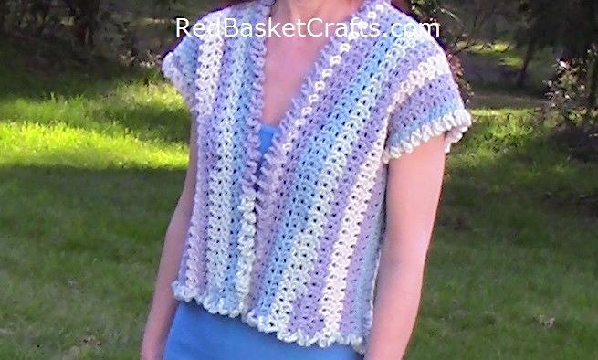 Lavender Vest – Crochet Pattern