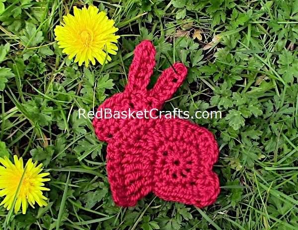 Easter Bunny Crochet Pattern Applique