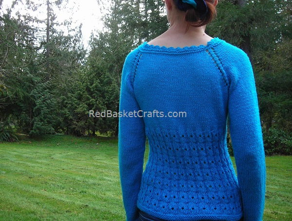 Top-Down Summer Pullover Knitting Pattern 3 Ply DK Cotton Yarn