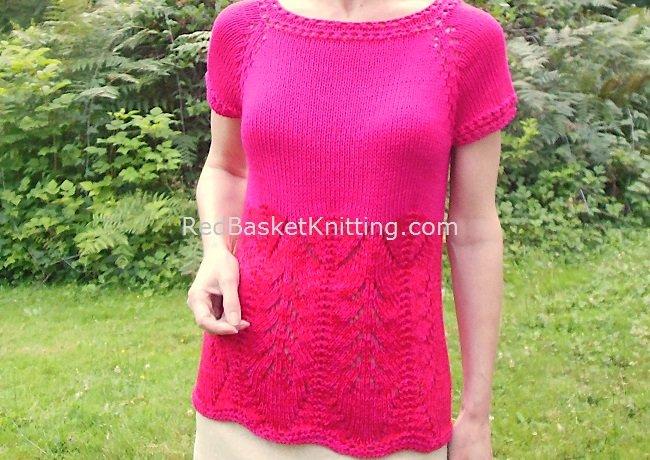 Pink Summer Sweater Knitting