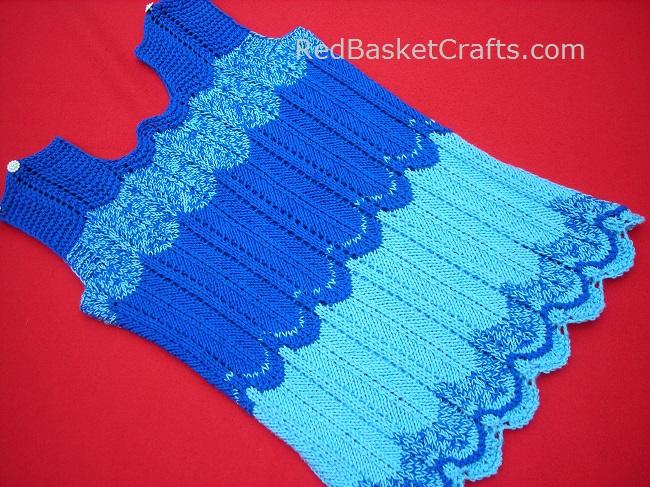Sea Wave Seamless Summer Top by Red Basket Crafts ~