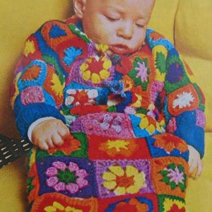 Sleeping Bag Crochet Pattern Granny Squares