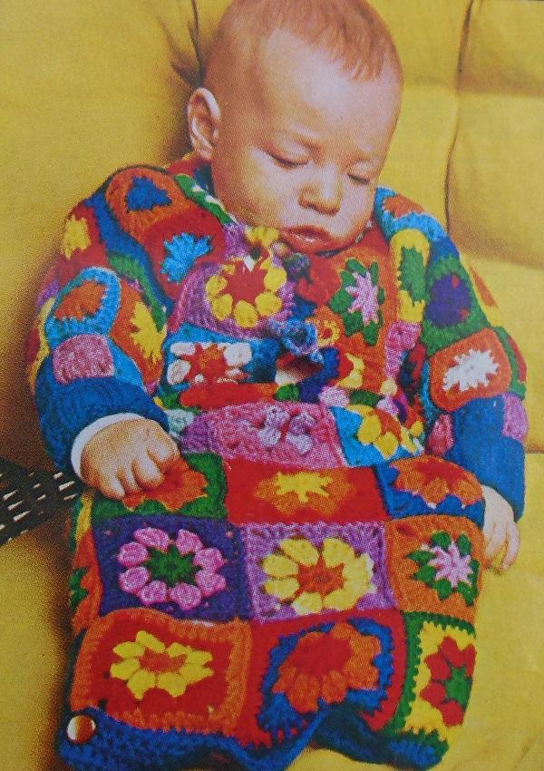 Sleeping Bag Crochet Pattern Granny Squares
