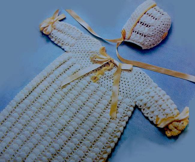Baby Dress Bunting Hat Crochet