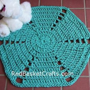 Cotton Rug Crochet Pattern by Red Basket Crafts