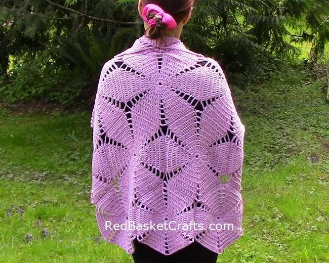 Crochet Shawl Poncho Pattern