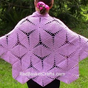 Hexagon Shawl Poncho Crochet Pattern
