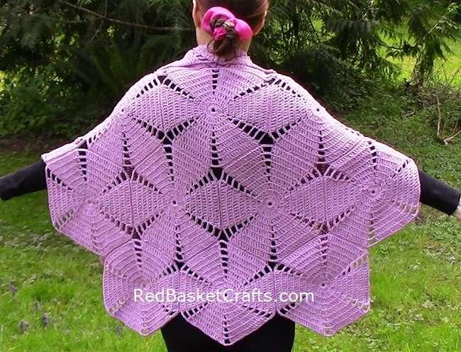 Hexagon Shawl Poncho Crochet Pattern