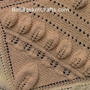 Leaf Blanket Knitting Pattern