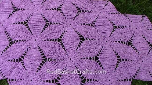 Malva Shawl Crochet Pattern Red Basket Crafts