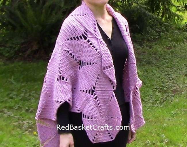 Shawl Poncho Crochet Pattern